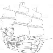 pirate ship coloring book stock vector art 497388609 istock