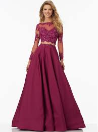 mori lee 99135 long sleeved prom gown dressprom net evening