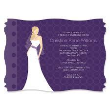 Bridal Invitation Cards Purple Bridal Shower Invitations Etsy Purple Bridal Shower