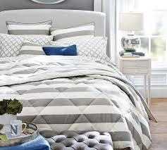 Striped Comforter Marlo Stripe Comforter U0026 Sham Pottery Barn