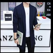 Mens Open Cardigan Mens Long Knitted Lapel Open Front Cardigan Navy Blue Lazada