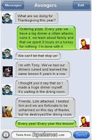 happy thanksgiving from texts from superheroes marvelicious