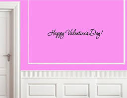 Wall Decorations For Valentine S Day by Amazon Com Happy Valentine U0027s Day Vinyl Wall Decals Quotes