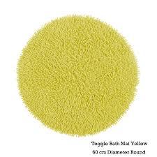 Yellow Bath Mat 100 Cotton Toggle Floor Bath Mat Round By Idc Homewares