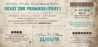 einladungskarten polterabend vintage ticket hochzeitskarten believe in magic