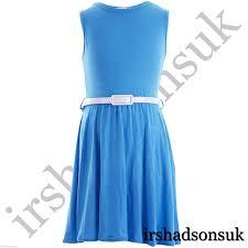 girls skater dress kids neon bright summer party dresses 7 8 9 10