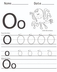 letter o worksheet for alphabet learning dear joya kids