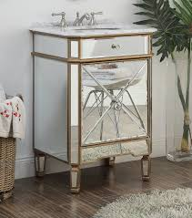 Powder Room Sink Vanity 24 U201d Mirror Reflection Gold Asger Powder Room Bathroom Sink Vanity