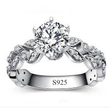 cheap rings silver images Real 925 sterling silver ring anel aneis de diamante cz diamond jpg