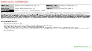 Scientist Resume Formulation Scientist Resumes U0026 Cover Letters