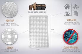 the original gorilla grip tm non slip bath mat fits any size the original gorilla grip tm non slip bath