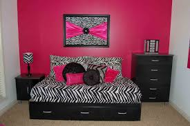 endearing pink and black zebra room decor wonderful home design