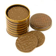 chocolate digestive small biscuit tin canister kitchen storage