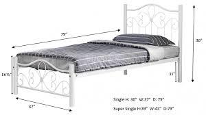 metal bed frame single super single mbf 045 single metal beds