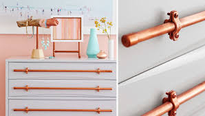 copper pipe drawer pulls