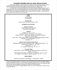 college resume example 8 samples in word pdfcollege resumes
