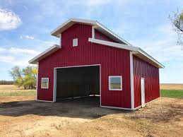 Hip Roof Barn by Post Frame Farm Barns Ab Bc Sk
