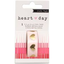 gold foil heart washi tape crate paper heart day planner washi