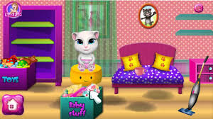 baby angela room cleaning angela gameplay my talking tom my