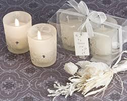 wedding candle favors sparkling floral votive candle set in display box wedding party favors