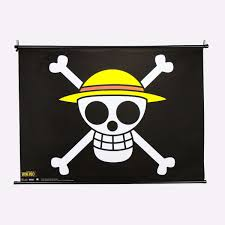 the straw hat pirates flag wall scroll home decor