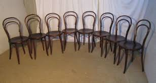 Bistro Chairs Uk Set Of 8 Bistro Bentwood Chairs 206821 Sellingantiques