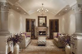 Traditional Living Room Traditional Living Room With Cement Fireplace U0026 Chandelier In