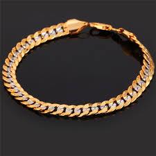 men gold tone bracelet images U7 two tone gold color bracelet men jewelry wholesale trendy 6mm jpg