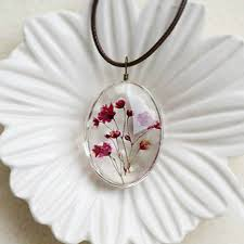 necklace flower handmade images Handmade dried flower necklace jewelry shop local communities jpg