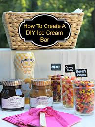 How To Design Your Own Home Bar How To Create A Diy Ice Cream Bar Kicking It With Kelly