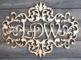 monogram letters home decor 32inch wooden victorian frame monogram unpainted monogram home
