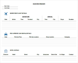 trip itinerary template 20 free word excel documents download