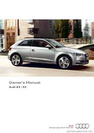 audi a3 2014 8v 3 g owners manual