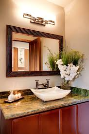 Ranch House Bathroom Remodel Ranch House Remodel Powder Room Modern With None