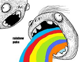 Puking Rainbow Meme - rainbow puke