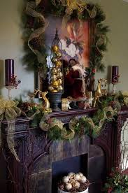 Fireplace Holiday Decorating Ideas 1209 Best Christmas Mantels Images On Pinterest Christmas Ideas