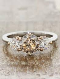 metal stone rings images Unique diamond engagement rings ken dana design jpg