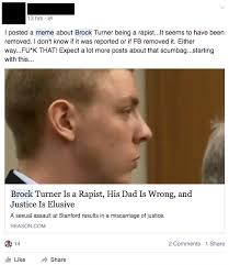 Prison Rape Meme - facebook forced to apologize for taking down stanford rapist meme