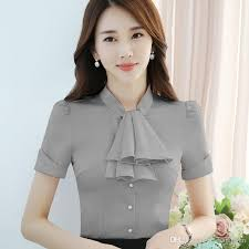 bow tie blouse plus size 2018 clothes bow tie shirt ol style summer