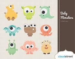 free cute halloween clipart cute baby monsters clipart by cloudstreetlab 4 95 cute
