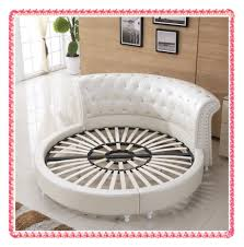 round bed frame outstanding round bed design ideas with round shape white leather