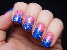 nail designs with blue and pink baby blue and pink nail designs