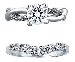 interlocking engagement ring wedding band how to wear wedding band and engagement ring together 1 ifec ci