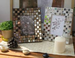 creative idea green tiles mosaic fireplace with cream mantel
