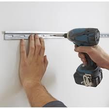 kit fixation meuble haut cuisine rail de montage de 2 mètres delinia leroy merlin