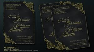 create a chalkboard and ornament style wedding invitation card in