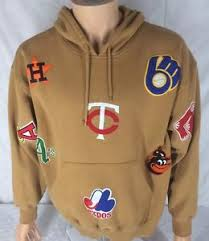 cooperstown collection mlb baseball hoodie sweatshirt medium all