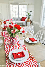 valentine s day table runner valentines day table setting with envelope napkin fold valentine s