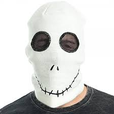 skellington mask nightmare before christmas beanie knit hat clothing