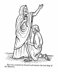 saul bible story coloring page church sunday pinterest